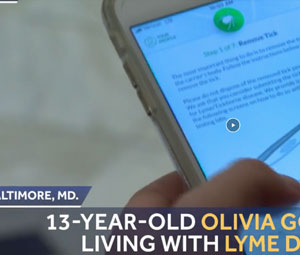 Teen battling Lyme disease develops app for tracking ticks