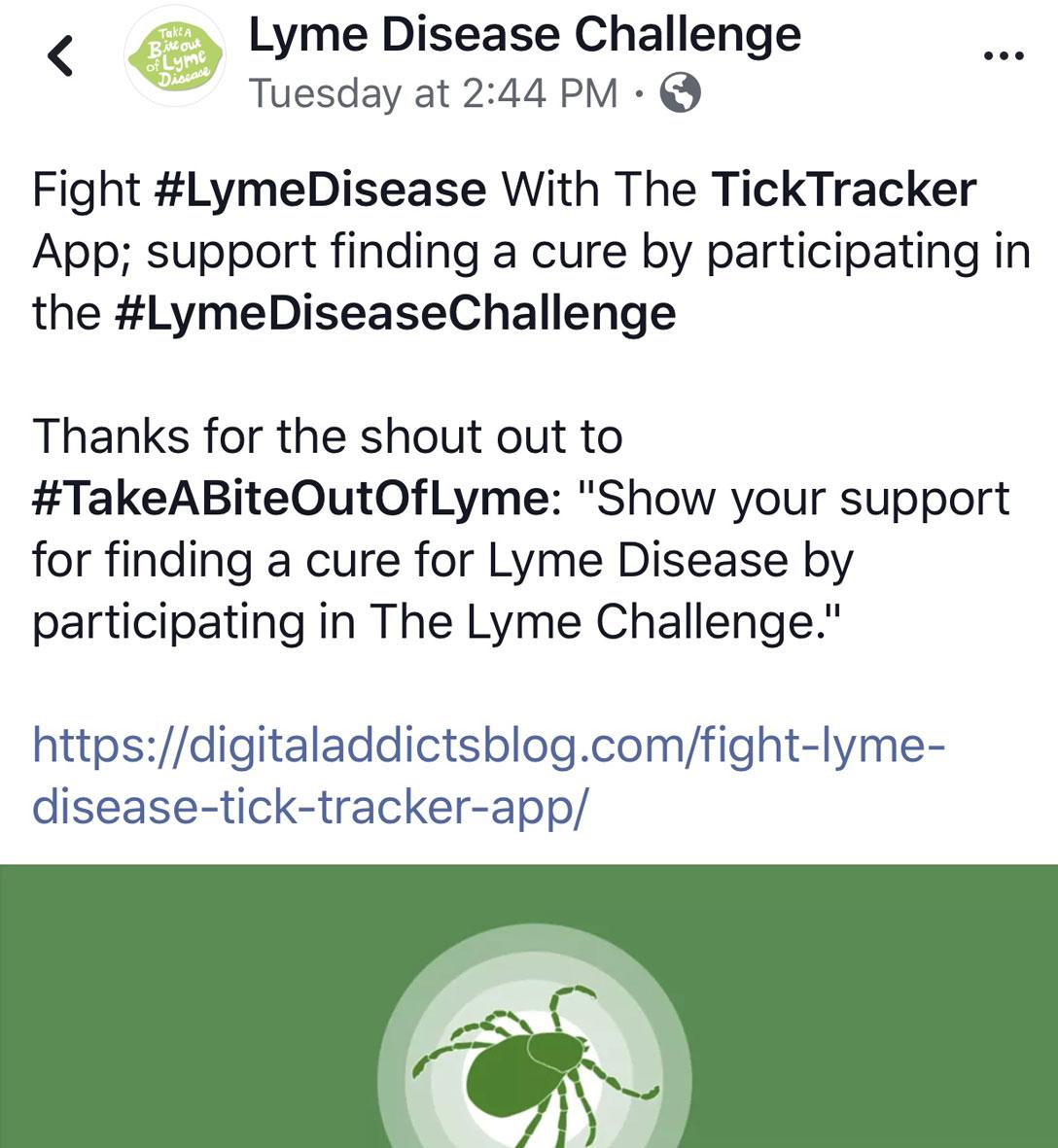 TickTraceker_Endorsement_LymeDiseaseChallenge